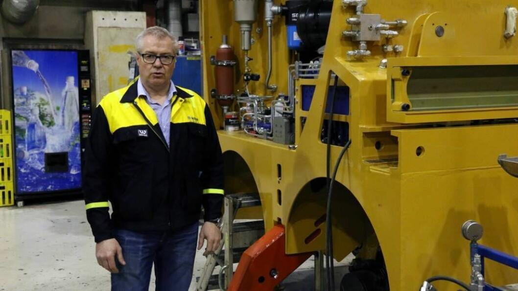 MILLIONKONTRAKT: HMR-konsernet har sikra fleire kontraktar til Hydros pilotprosjekt på Karmøy. Dagleg leiar ved HMR Hydeq i Årdal, Anders Seim jr., seier kontraktane er verdt 200 millionar kroner til saman. Foto: Truls Grane Sylvarnes.