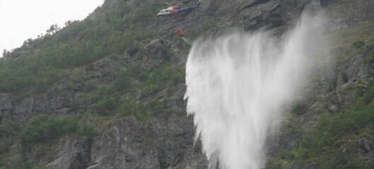Her vassbombar dei fjellsida