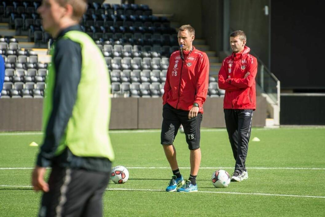 STORTAP: Sogndal tapte 0-4 for Lillestrøm då dei to laga møttest til treningskamp i LSK-hallen torsdag.Foto: Halvor Farsund Storvik.