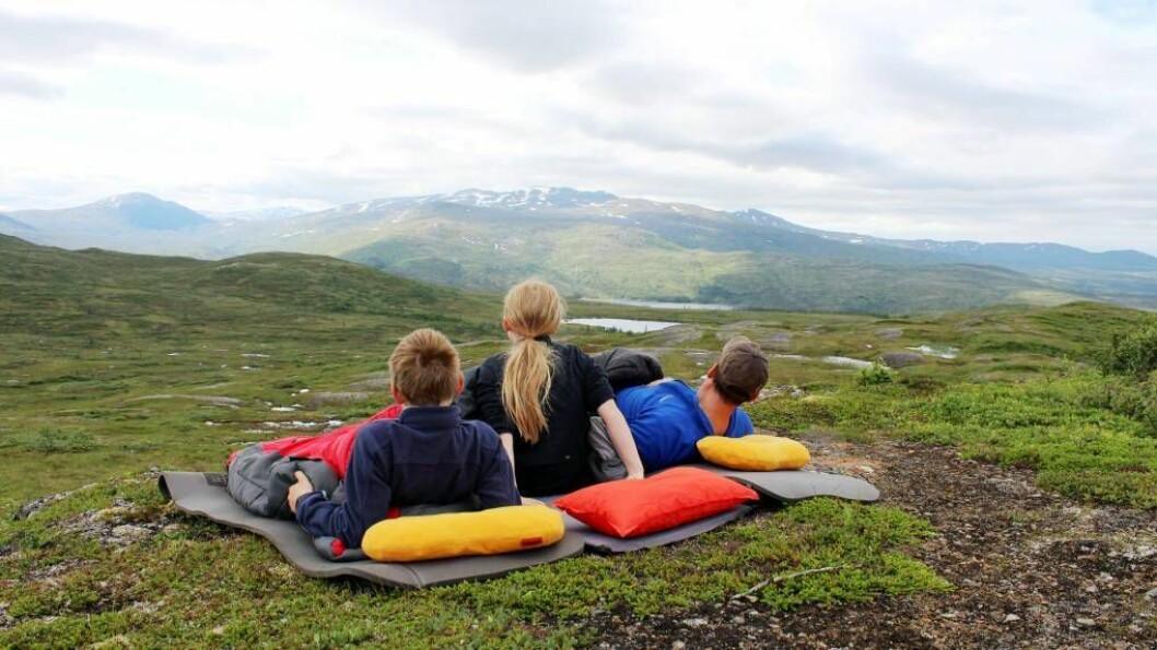 UTENATT: Ta med deg telt og sovepose ut natt til søndag for å markere starten på Friluftslivveka med ei natt i naturen. FOTO: Jonas Svensson / Norsk friluftsliv.