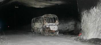 Bussbrann-saka i Gudvangatunnelen er henlagt