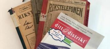 Siste telefonkatalogen i papir
