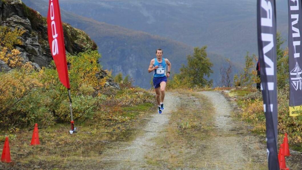RASKAST: Svein Inge Buhaug kom i mål med den raskaste tida på 31:16. FOTO: Andreas Aannevik