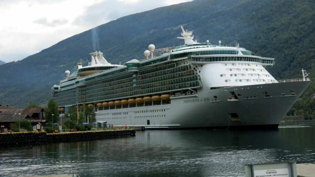 ØKONOMISK MILJØSMELL: Over førti prosent av skipa som har bestilt anløp til Flåm neste sommar kan få problem med å innfri dei nye miljøkrava. Illustrasjonsfoto