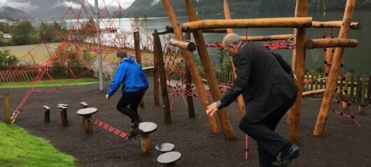 Ny klatrepark vart opna i Fjærland