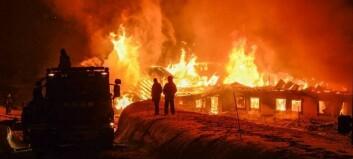 Tyder på menneskeleg årsak til brannen