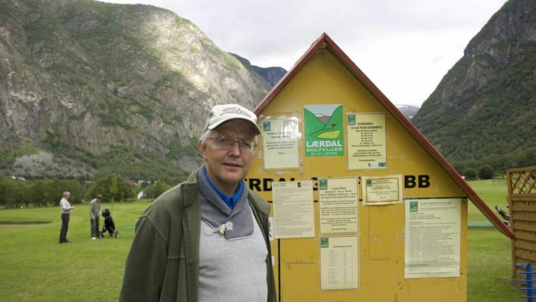 NYTT SELSKAP: Lorentz Petter Lossius er styreleiar for det nystarta selskapet Lærdal Golfbane.