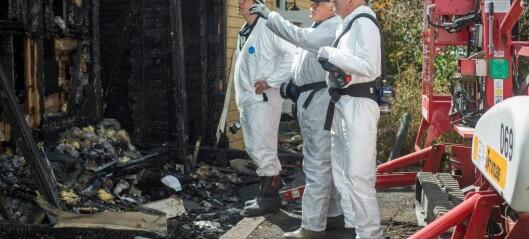 Her har politiet starta granskinga av branntomta