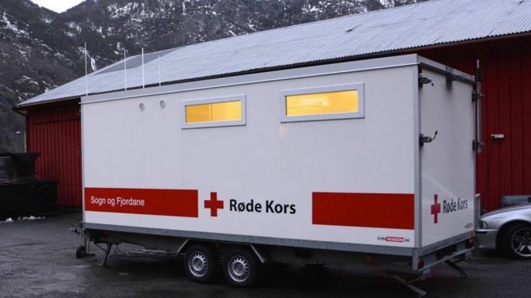 LEITING: Røde Kors i Lærdal og Aurland vart kalla ut på leiteaksjonen etter eit turfølge på sju personar. Illustasjonsbilete