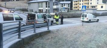 Brot på vassleidning på Årdalstangen