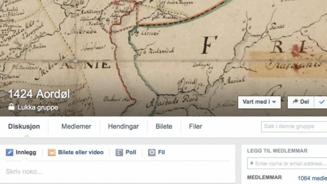 EKSPLODERAR: Folk strøymer til den nyoppretta Facebook-gruppa 1424 Aordøl som syner Årdal før i tida.