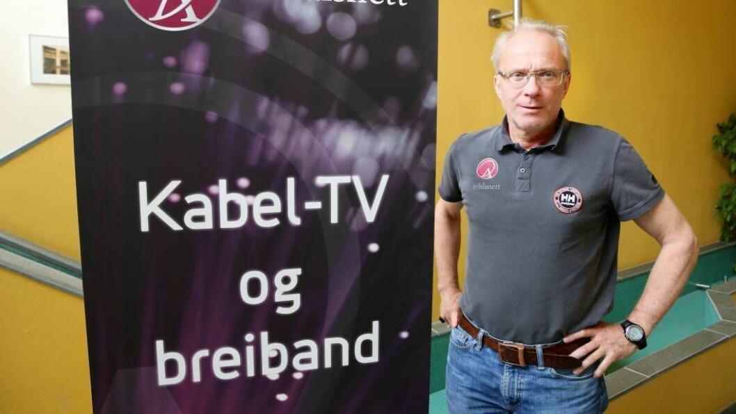 INVESTERER: Odd Øren og Årdalsnett har store planar for fibermarknaden i Årdal. Foto: Truls Grane Sylvarnes.