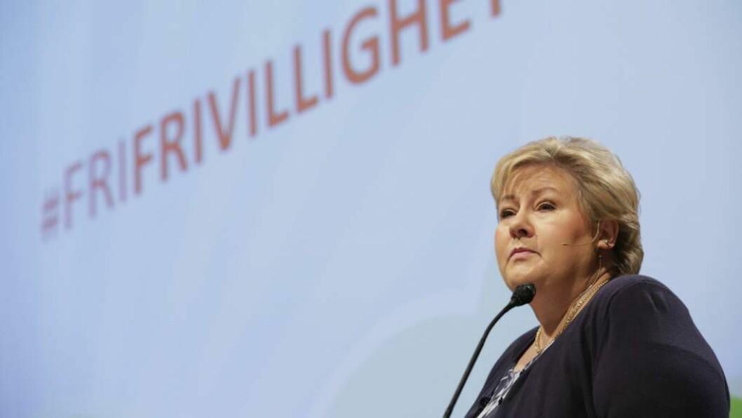 KOMMUNEREFORM:Solberg stadfesta at det kan bli aktuelt med tvang i tilfelle der fleire kommunar ønsker å gå saman, men blir blokkert av éin som seier nei.