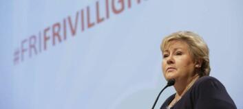 Solberg innser at regionkommunar blei for stort