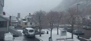 Snøen forsvinn i løpet av dagen
