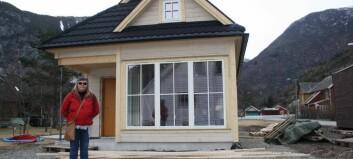 Bygger eit av Europas første «Tiny-House» i Lærdal