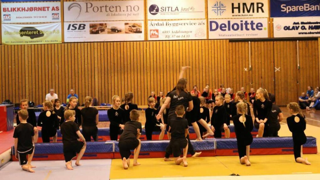 TURN: Turnarar frå heile fylket var denne helga samla i Øvre Årdal. Foto: Camilla Skjær Brugrand.