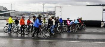 Få syklistar og bilistar tenkjer på blindsona