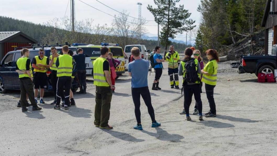 RESULTATLAUST: Heller ikkje laurdag fann politiet og resten av leitemannskapa spor etter den sakna 37-åringen. Arkivfoto: Halvor Farsund Storvik.