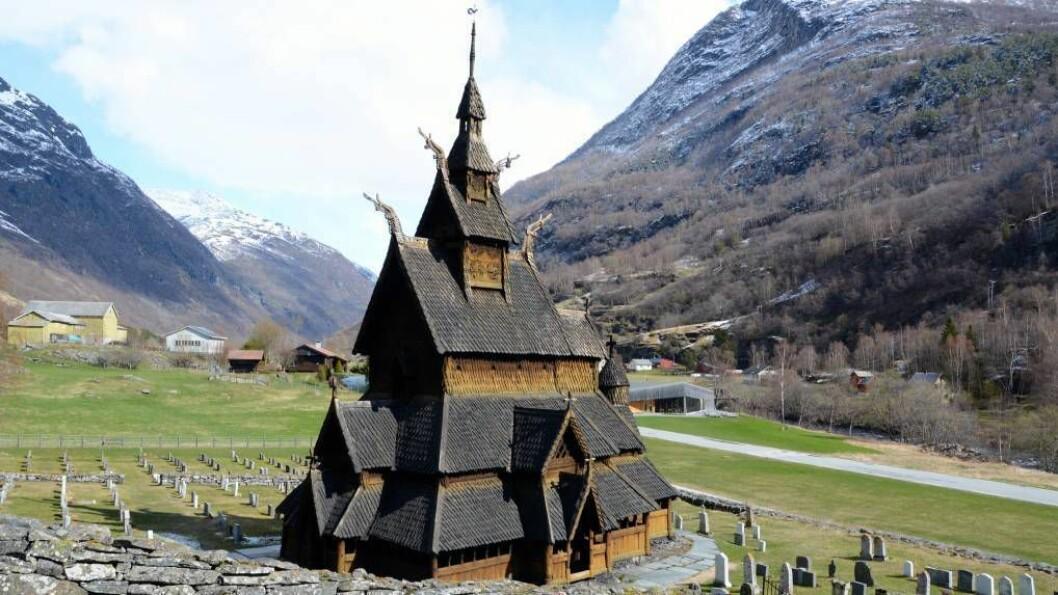 STAVKYRKJE: Borgund stavkyrkje med anslått 628 % avkastning på investeringar og inntektsskatt på omtrent 11 millioner kroner årlig. Foto: Arkiv.