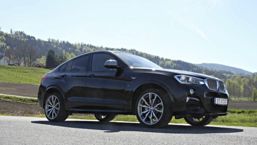 MEIR ENN EIN SUV: Denne utgåva av BMWs X4 er noko meir enn ein mellomstor SUV. Med 360 hestekrefter vil den også vere ein sportsbil. FOTO: Morten Abrahamsen / NTB tema