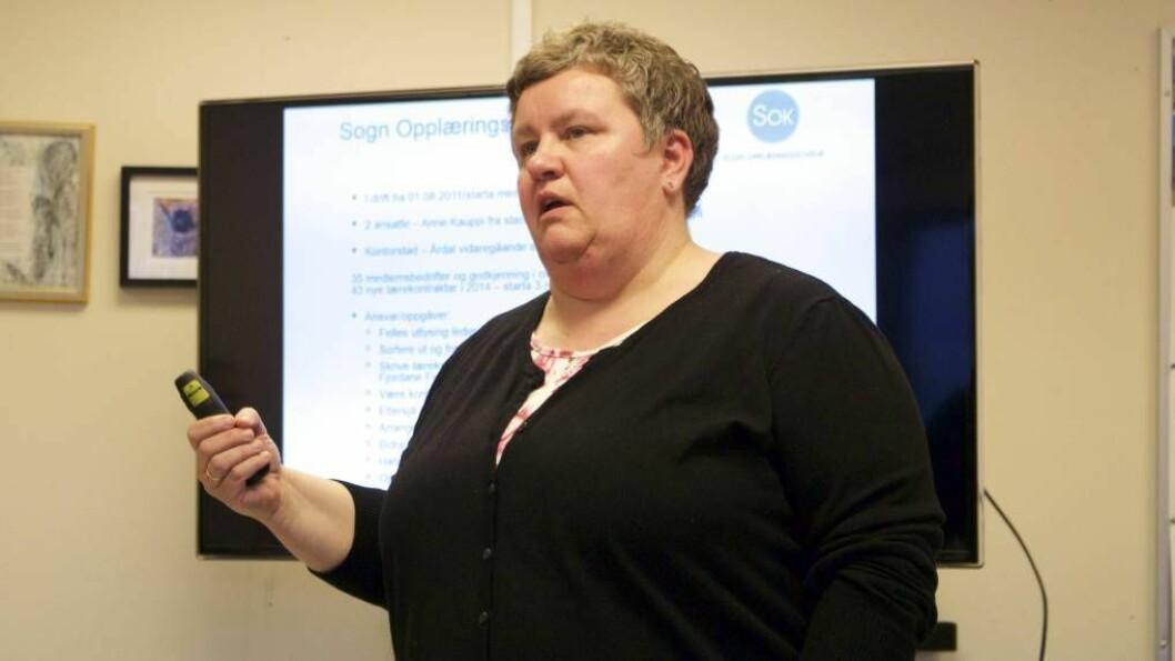KRITISK: Anne Kauppi, styreleiar for Årdal Utvikling, seier at dei skal gje ei innstilling til kommunen i næringsfondsaker.