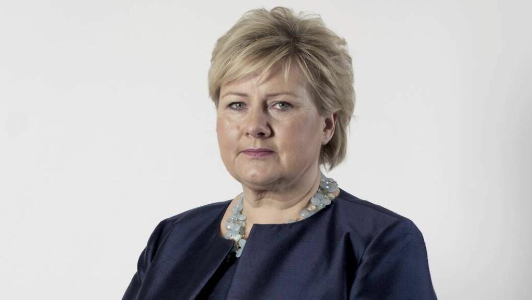 DRASTISK: Statsminister Erna Solberg varslar drastiske tiltak for å hindra spreiing av koronaviruset.