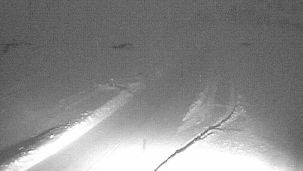 VANSKELEGE FORHOLD: Det er venta vanskelege køyreforhold i fjellet fredag på grunn av stigande temperaturar og mykje vind.Foto: Webkamera/Statens vegvesen.