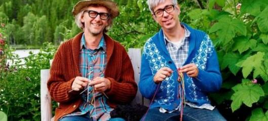 Designarane Arne og Carlos held føredrag om gamle mønster og teknikkar