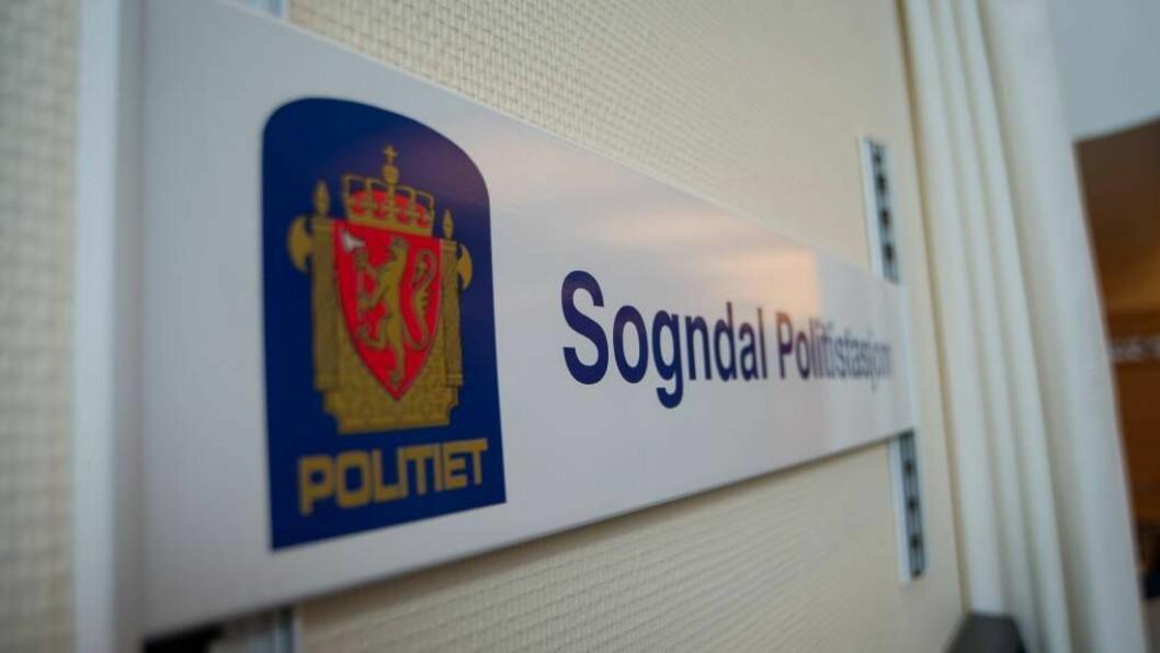 SLAGSMÅL: Politiet følgjer opp eit slagsmål i Sogndal sentrum natt til torsdag.