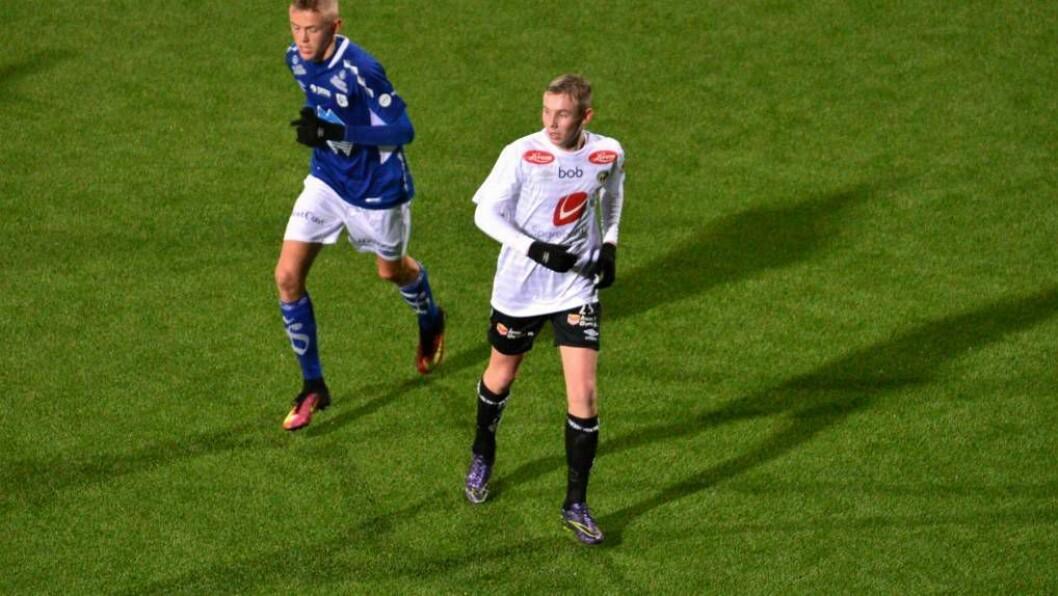 UNG DEBUT: Sivert Mannsverk er fjorten år og debutant for Sogndal. Den rekorden skal det bli vanskeleg å slå.