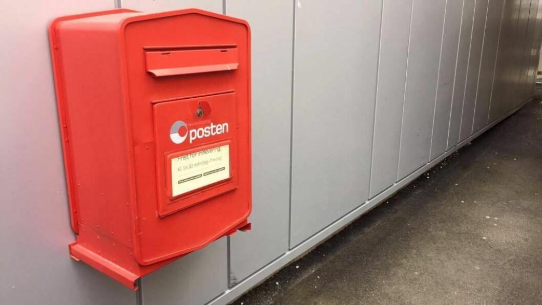 POSTKASSE: Når postkontoret i Førde blir lagt ned er det postkasser og post i butikk som gjeld overalt i Sogn og Fjordane. Illustrasjonsfoto: Truls Grane Sylvarnes