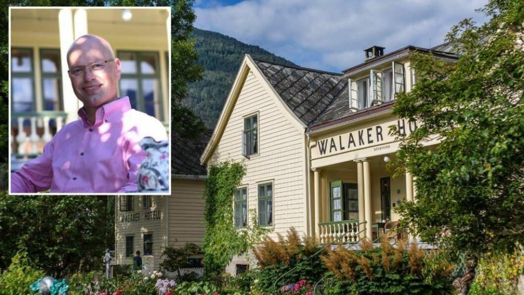 NORGES ELDSTE: Walaker Hotell i Luster er det eldste i landet, og no også det tredje beste. Foto: Pressefoto.