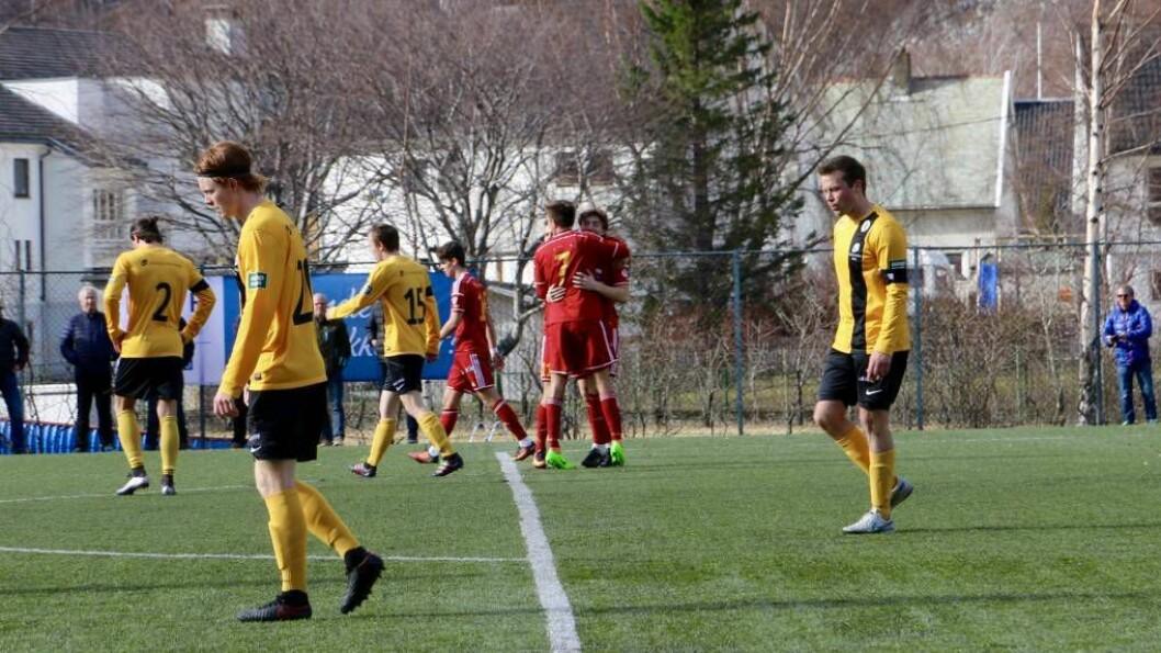 SEIER: Då Anders Lereng scora dettredje målet var det klart at ÅFK er vidare i cupen. Foto: Marte Hestetun.