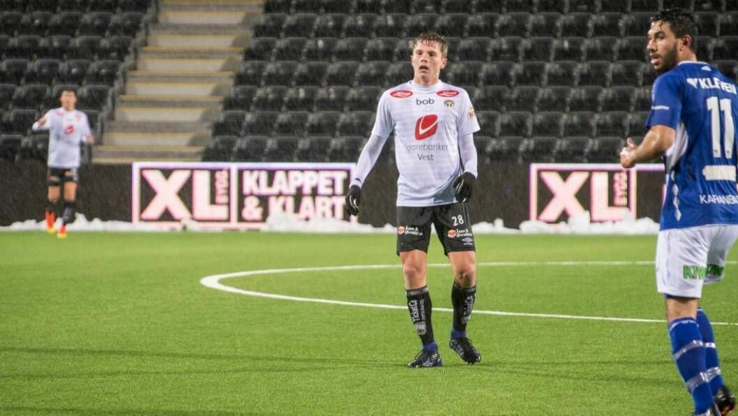 NYTT MIDTBANEELEGANT: Johan Hove (16) er framleis ung, men kan fort få mange minutt i årets eliteserie om han held oppe taktene han har vist i vinter.