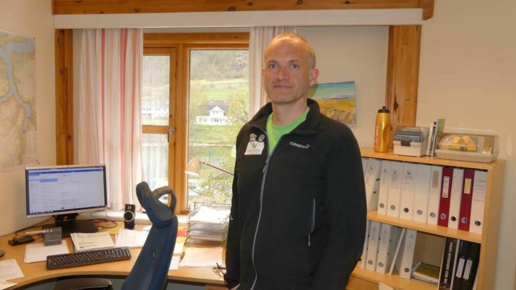 VERDSARVPARKEN: Dagleg leiar, Erling Oppheim, i Nærøyfjorden Verdarvpark.