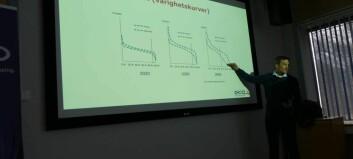 Her viser han kvifor E-CO sitt kraftverk i Aurland kan bli ekstra verdifullt