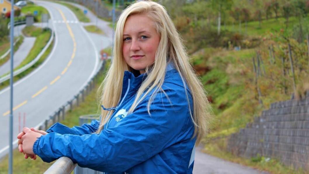 STJERNESKOT: Lise-May Sæle (20) frå Balestrand blir ein viktig kandidat for Vestland Høgre i valkampen, dersom sogndølene får det som dei vil. Foto: Privat.