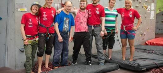 Denne gjengen fekk testa nye grenser i klatreveggen