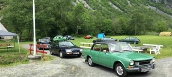Ti bilar på «fransk biltreff» i Utladalen: – For meg er dette kjempebra