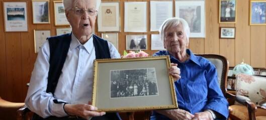 I dag kan Arne og Ester feire at dei har vore gift i 75 år