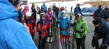 På denne sommarskiskulen får deltakarane faktisk gått på ski