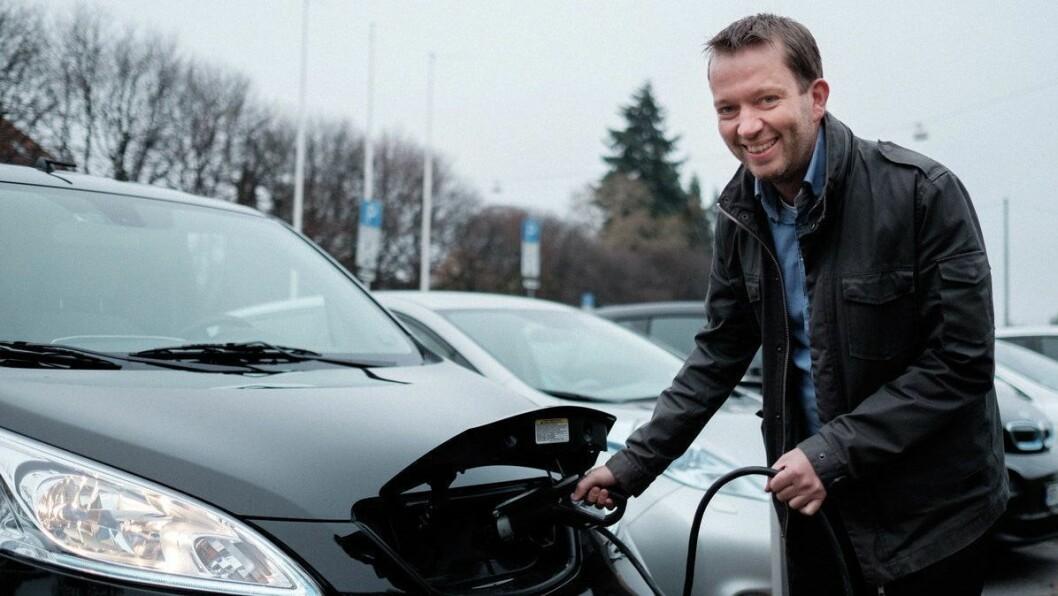 NORGE IKKE NOK: Petter Haugneland i Norsk elbilforening sier vi nå er avhengig av at andre land også får opp elbilsalget, da særlig i Tyskland.