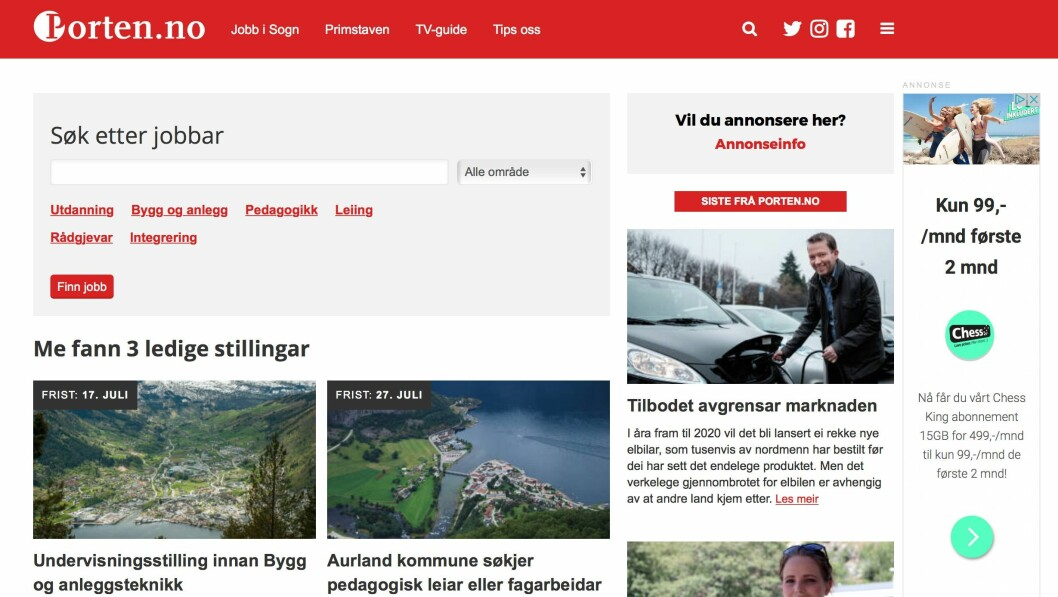 Jobb i Sogn: nytt stillingskonsept som jobbar aktivt for å kommunisere jobbmoglegheita i ulike kanalar.
