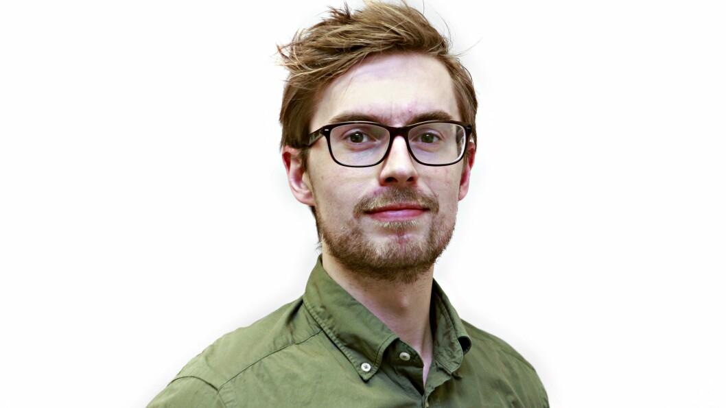 I NYNORSKVINDEN: Anders Veberg er for tida sommarvikar i Aftenposten, men har allereie rukke å gjere seg bemerka.
