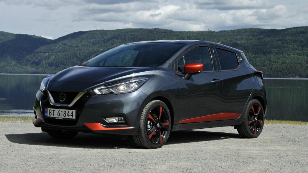 NYE LINJER: Nissans nye Micra-modell har blitt større og har fått en design som det er litt futt i.   FOTO: Morten Abrahamsen / NTB tema /