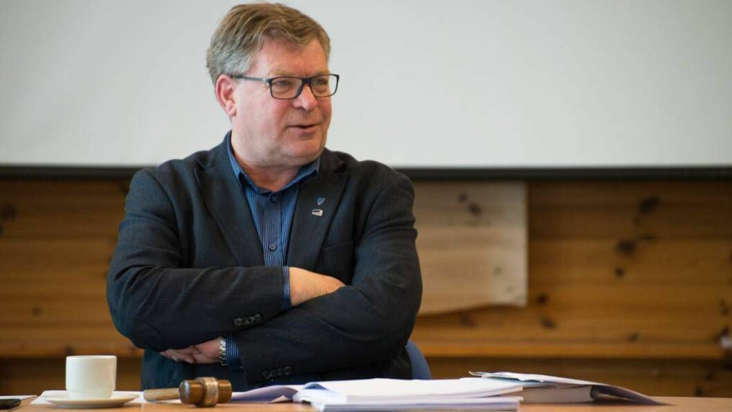FORNØGD: Ordførar Noralv Distad er svært fornøgd med årets tal, men ser at det er viktig å fortsette arbeidet med å halde ned sjukefråværet.