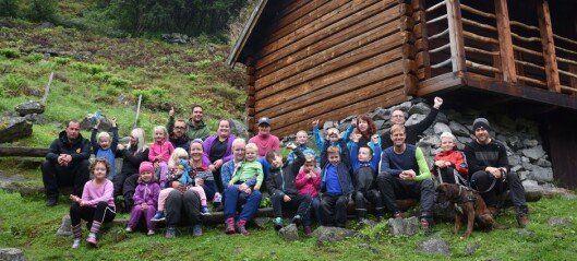 Barnas Turlag på overnattingstur i Avdalen