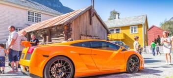 Sjå Lamborghiniane som vitja Lærdal