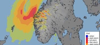 Meteorologane åtvarar mot kraftig vind